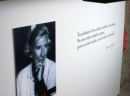 Fotografía de Menchu Gal como parte de la exposición sobre su obra expuesta en la Ciudadela de Iruña-Pamplona el pasado año (foto Fundación Menchu Gal)