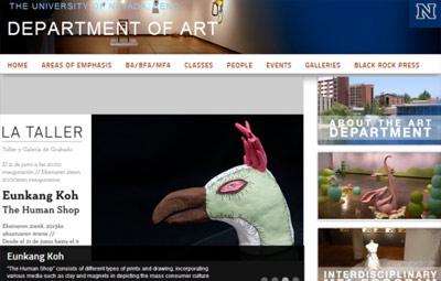 Nevadako Unibertsitateko Arte Departamentuaren jakinmina piztu du bi emakume hauen ekimenak eta horrela erakutsi du euren web orriak.
