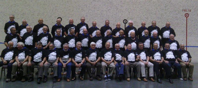 The Euskal Artzainak at the SFBCC trinketa (photo Euskal Artzainak Ameriketan)