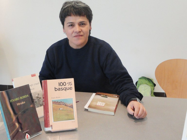 La escritora vasca Itxaro Borda (argazkia www.eke.org)