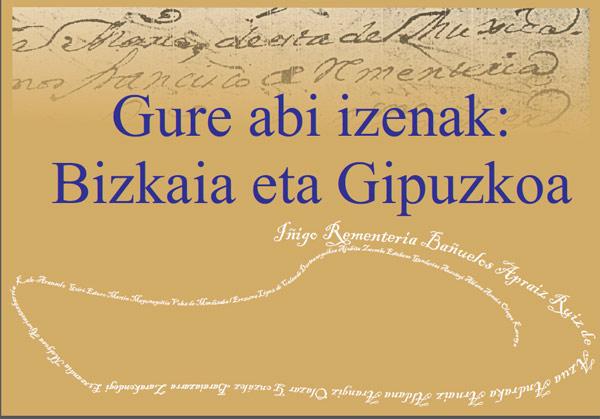 """Portada del libro """"Gure Abi Izenak"""", de Iñigo Rementeriak, publicado en edición bilingüe euskera-castellano"""