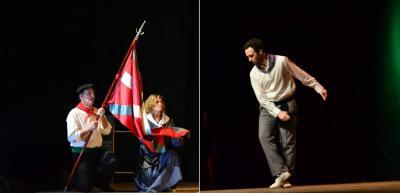 Josetxu Astolfi dantzariak 'Agurra' dantzatu zion ikurrinari 2014ko Gizataldeen Jaian