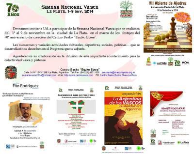 2014ko Euskal Aste Nazionalaren gonbite eta afixak