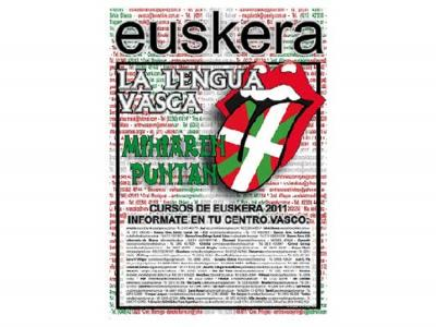 Promotional poster for Basque classes in Argentina