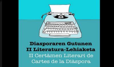 Diasporaren Gutunen II  Literatura Lehiaketaren kartela