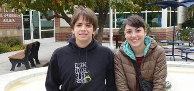 Ander Martinez eta Virginia Molina, 2013ko bekadunak (argazki Boise State University)