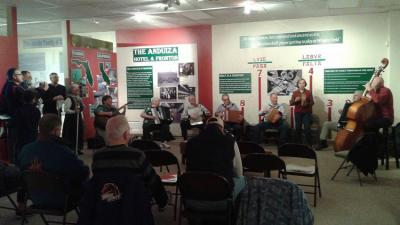 In Boise the Santa Ageda procession began with a lot of music at the Basque Museum
