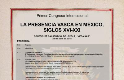 Nazioarteko mintegiak euskaldunen presentzia Mexiko aztertuko du, XVI. mendetik hona