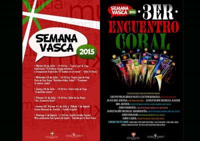 2015eko Txileko Euskal Astearen afitxak