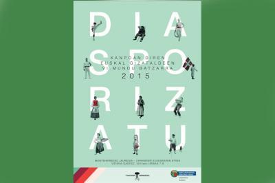 Kanpoan diren Euskal Gizataldeen VI. Mundu Batzarra-ren afixa