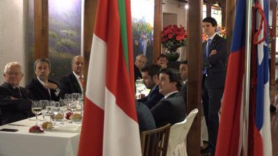 Deputy General of Bizkaia, Unai Rementeria, has been meeting with Chilean businessmen before joining in Semana Vasca at the Euzko Etxea (photoBizkaimedia)