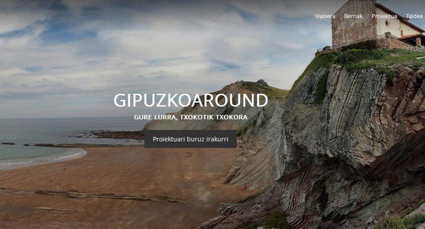GipuzkoAround proiektuaren webguneko irudia