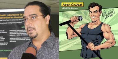 Jon Paul Rodriguez-en argazkia eta  Asier Cazalisen marrazkia