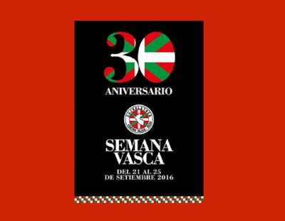Promotional poster for Basque Week 2016 at the Euskaletxea in Peru