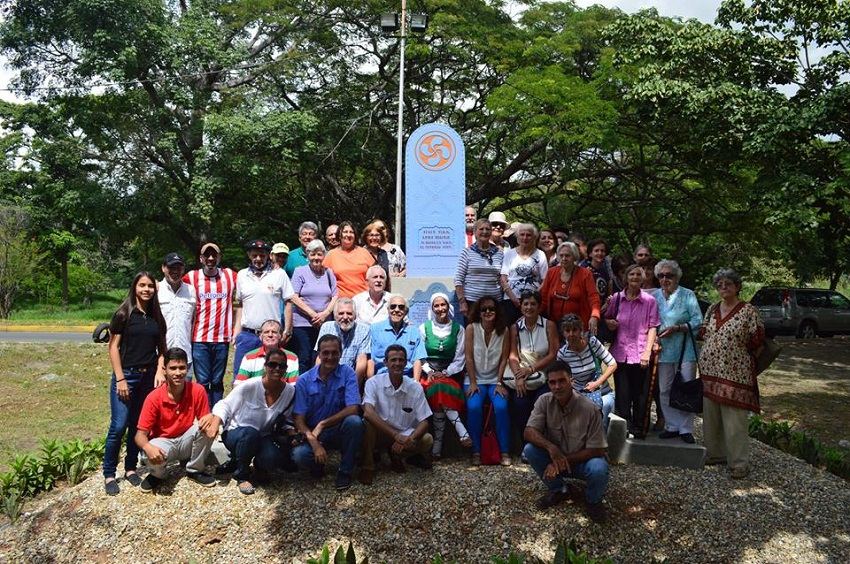 Salida impulsada por la Federación e inauguración del Monolito de los Vascos en homenaje a los cultivadores de añil de los Valles de Aragua (foto Jazoera)