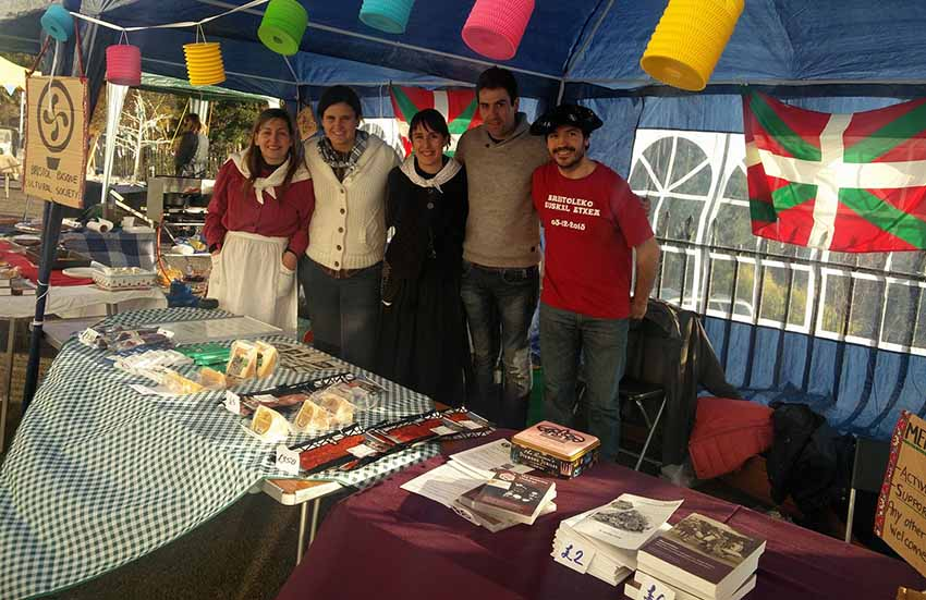 Booth by the Bristol Basque Cultural Sociey at the Royal York Crescent Christmas Fayre in Clifton, December 2016