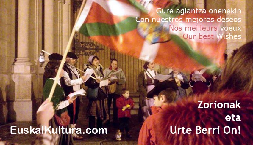 Urte Berri On and our Best Wishes to you our readers, diasporakides, and Basques everywhere