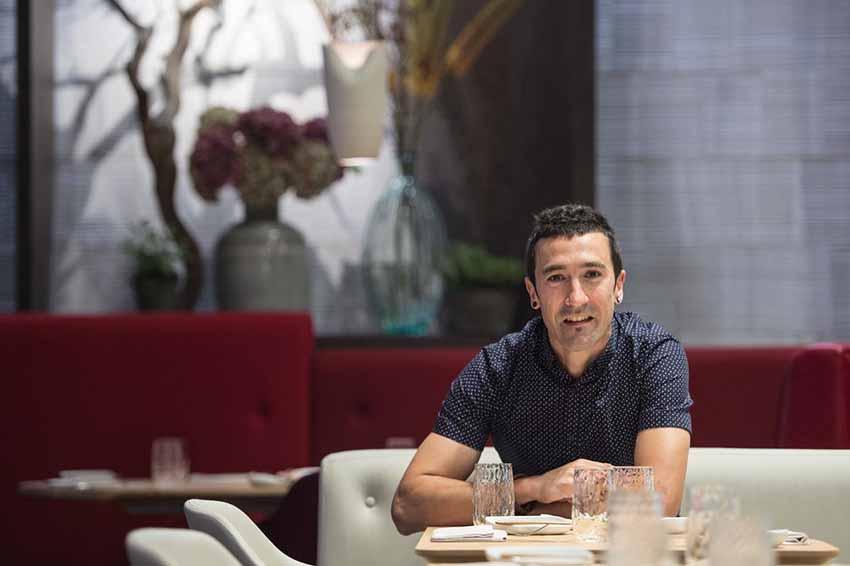 Eneko Atxa at his London restaurant (photo Eneko at One Aldwych)