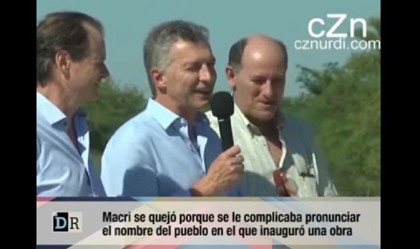 Macri durante la inauguración en Urdinarrain