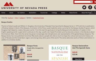 The University of Nevada Press's new website