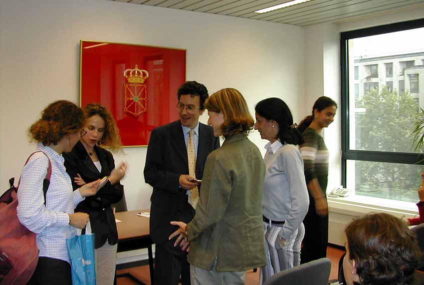 Imagen de archivo del interior de la Delegación de Navarra en Bruselas