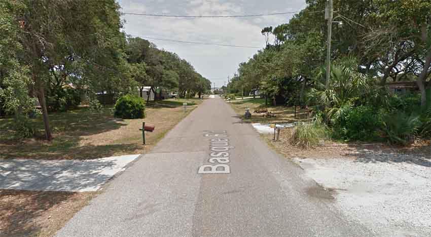 Basque Road St Augustine Florida (photo Google Earth)