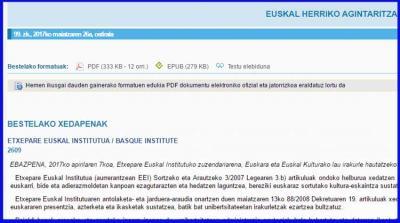 Etxepare Euskal Institutuaren deialdia