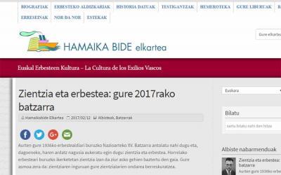 Hamaikabide Elkartearen webgunea