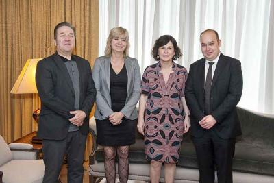 From left to right, Pello Pellejero and Ana Ollo, along with Marian Elorza and Gorka Alvarez