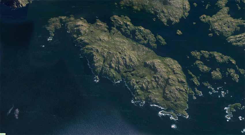 Jaureguiberry Uhartea Txile (arg. Google Earth)