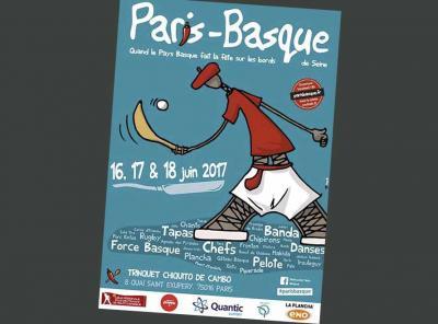 Cartel del Paris-Basque 2017. Tendrá lugar del viernes 16 al domingo 18 de junio
