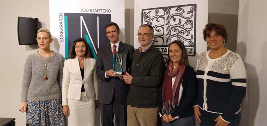 ENE Saria 2017 premió a la institución Euskal Echea de la Ciudad de Buenos Aires (foto Eusko Ikaskuntza)