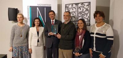 ENE Saria 2017 prize awarded the Euskal Echea institution in Buenos Aires City (photo Eusko Ikaskuntza)