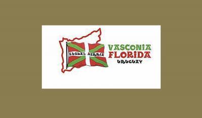 Uruguaiko Floridako 'Gernikako Arbola Plazatxoan' gaur ekitaldia antolatu duen 'Vasconia Florida' euskal elkartearen logoa