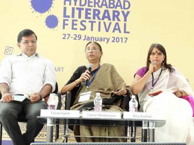 Hyderabad-eko Literatur Jaialdiaren iazko edizioko irudia