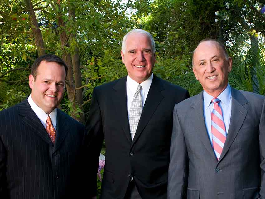 Lawyers Ricardo Echeverria, Mike Bidart and William Shernoff of the Shernoff Bidart Echeverria firm
