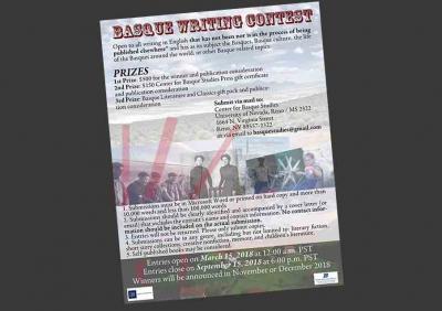 Basque Writing Contest 2015. urtean antolatu zen lehenengo aldiz AEBetan, euskal originalei argitaratzeko aukera ematearren