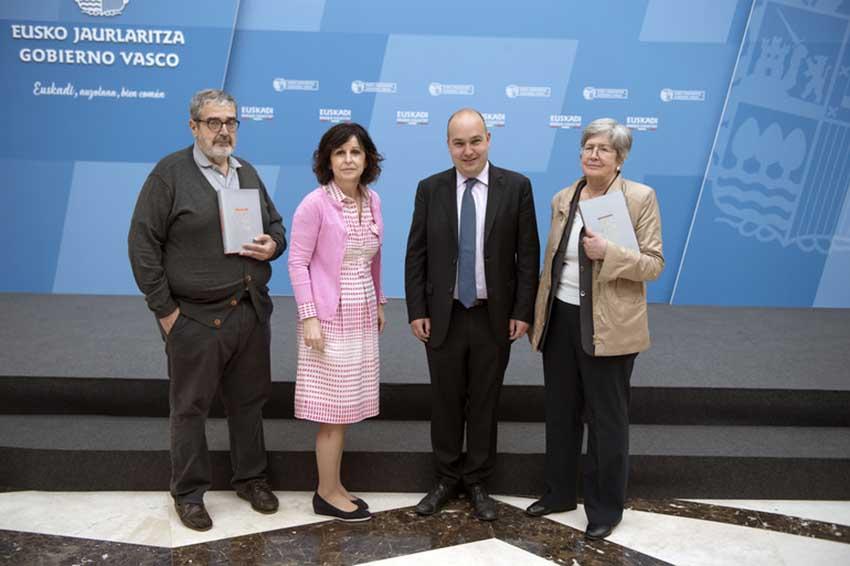 Koldo San Sebastián, Marian Elorza, Gorka Alvarez eta Estíbaliz Ruiz de Azúa