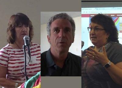 Nueva mesa NABO 2018: Mayie Petracek, tesorera; Philippe Acheritogaray, presidente; Kate Camino, secretaria