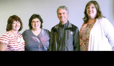 2018-2019 N.A.B.O.Officers: (Left to Right): Mayie (Berterretche) Petracek, Treasurer; Kate Camino, Secretary; Philippe Acheritogaray, President; Annie Gavica, Vice President (photo Lisa Corcostegui)