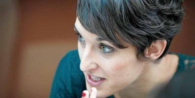 La bertsolari, escritora y periodista elgoibartarra Uxue Alberdi Estibaritz