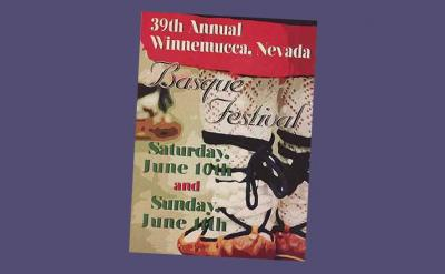 Poster of the 2018 Winnemucca NABO Convention and Basque Festival