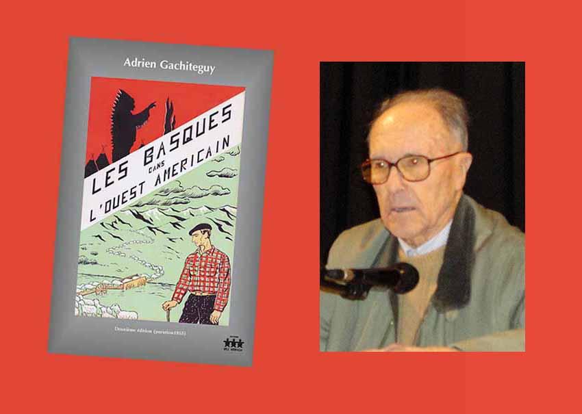 Adrien Gachiteguy eta AEBetako euskal diasporari buruzko bere liburua (arg. EuskalKultura.com)
