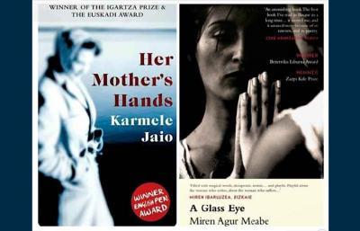 Las dos obras ahora editadas en versión inglesa: Her Mother's Hands, de Karmele Jaio, y A Glass Eye, de Miren Agur Meabe