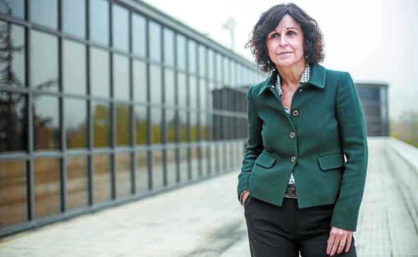 Marian Elorza, en la sede de Lehendakaritza, desde donde ha organizado el viaje de Urkullu a Argentina y Chile (foto Blanca Sáenz del Castillo/DV)