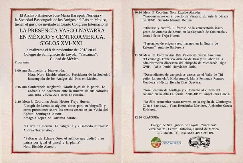 La cita es este próximo jueves en el Colegio de San Ignacio de Loyola 'Vizcaínas' de la capital mexicana