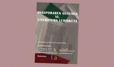 cartel del VI Certamen de Cartas de la Diáspora que convocan las euskal etxeak Euskaltzaleok y Laurak Bat de Valencia