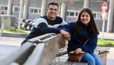 Aimara Marrero with her father, Alvaro (photo Javi Colmenero-NDG)