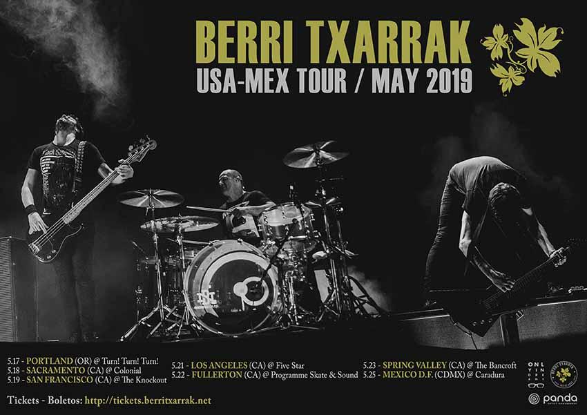 Berri Txarrak-en 2019 maiatzeko AEB eta Mexikoko birako posterra