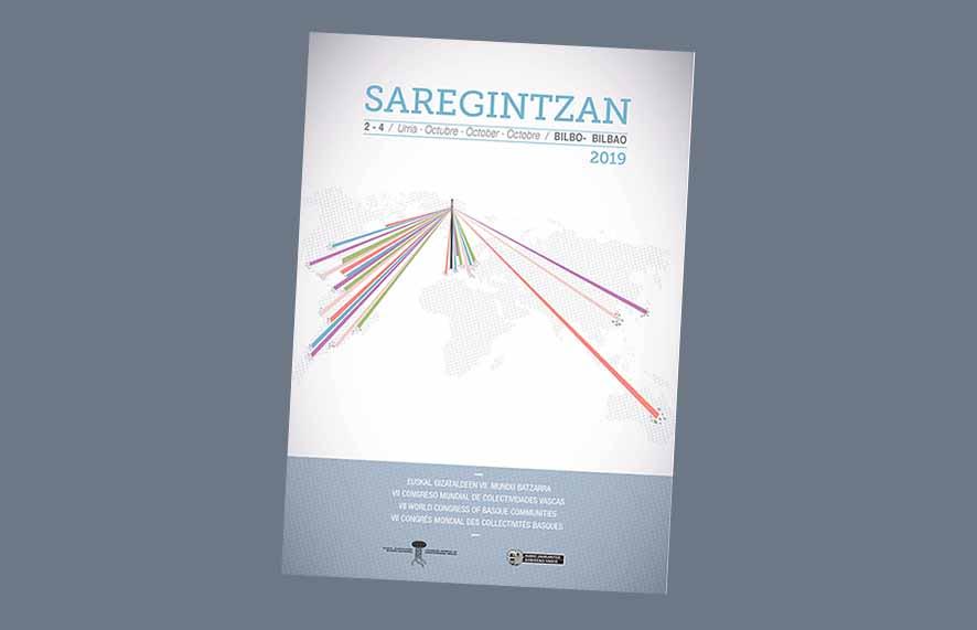 cartel del 7º Congreso Mundial de Colectividades Vascas en el Exterior
